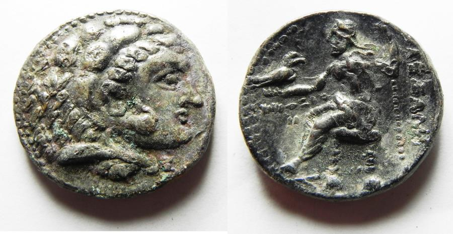 Ancient Coins - MACEDONIAN KINGDOM. Alexander III, the Great. 336–323 BC. AR TETRADRACHM. AKE MINT