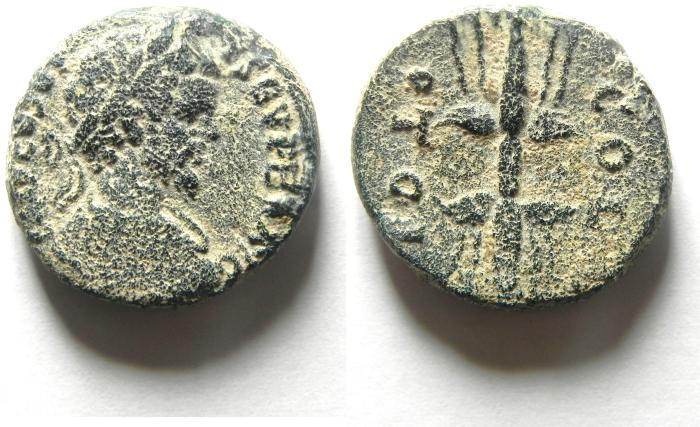 Ancient Coins - PHOENICIA, Akko Ptolemais (AKKO , ISRAEL). Septimius Severus, AD 193-211, Æ 22mm , VERY RARE!!!