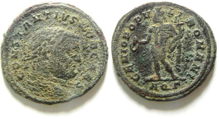 Ancient Coins - CONSTANTIUS I AE FOLLIS AS FOUND, HIGH QUALITY