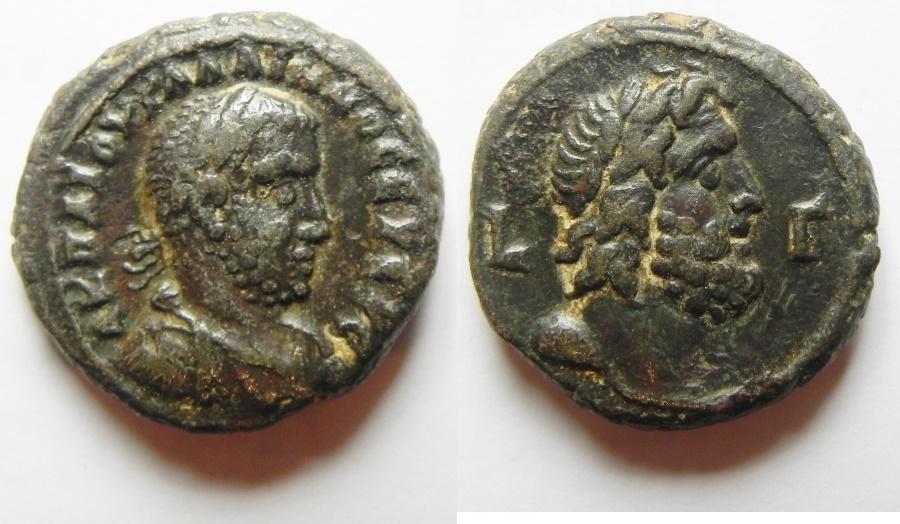 Ancient Coins - A BEAUTIFUL BILLON TETRADRACHM OF GALLIENUS WITH ZEUS. ALEXANDRIA. EGYPT