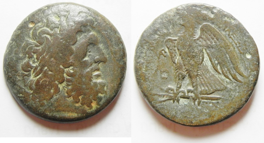 Ancient Coins - PTOLEMAIC KINGDOM, PTOLEMY II AE 27, ALEXANDRIA MINT