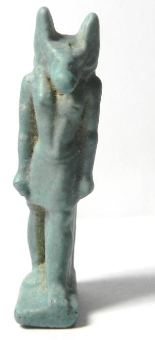 Ancient Coins - ANCIENT EGYPT , 600 - 300 B.C , FAIENCE AMULET OF ANUBIS , BEAUTIFULL AND HUGE!!!