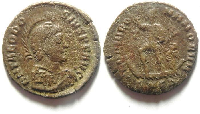 Ancient Coins - THEODOSIUS I AE AE 3