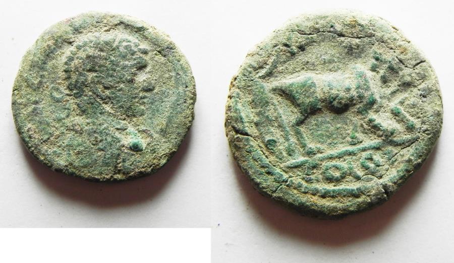 Ancient Coins - ARABIA. A CITY COIN FROM PETRA. ELAGABALUS AE 22. AS FOUND