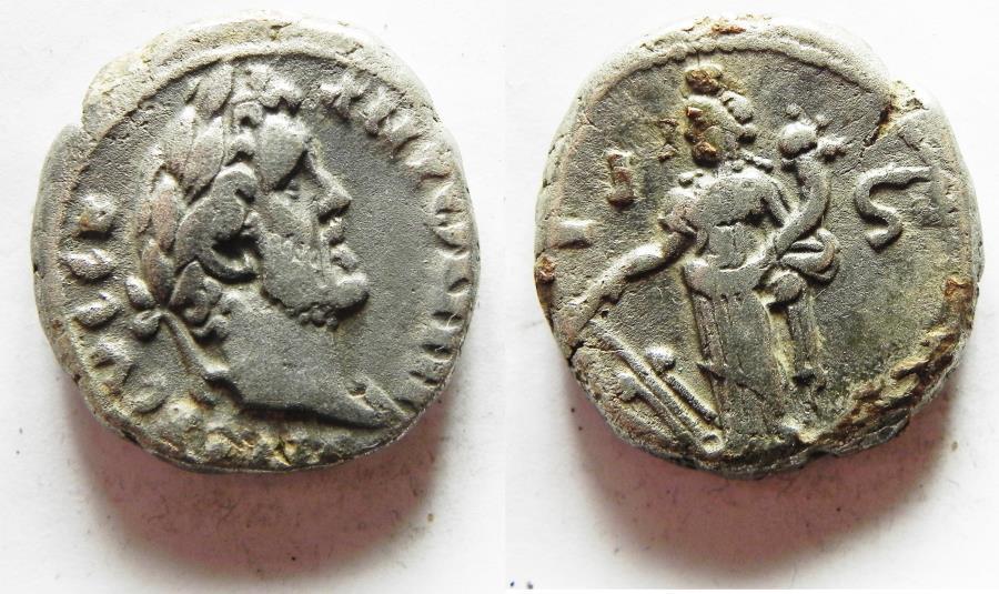 Ancient Coins - EGYPT. ALEXANDRIA. ANTONINUS PIUS BILLON TETRADRACHM