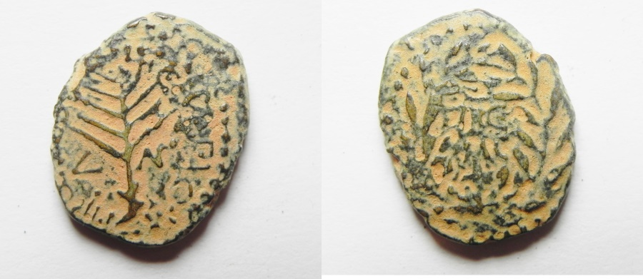 Ancient Coins - Be-Header of John The Baptist: JUDAEA, Herodians. Herod III Antipas. 4 BCE-39 CE. Æ Unit (20mm, 5.50 g). Tiberias mint.