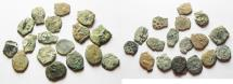 Ancient Coins - JUDAEA. LOT OF 17 WIDOW'S MITE COINS. AS FOUND