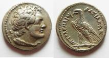 Ancient Coins - Egypt. Ptolemaic kings. Ptolemy V Epiphanes or Ptolemy VI Philometor (204-180 BC or 180-145 BC). AR tetradrachm (27mm, 13.83g). Alexandria mint.