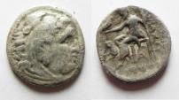 Ancient Coins - GREEK. MACEDON. ALEXANDER THE GREAT SILVER DRACHM.