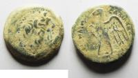 Ancient Coins - PTOLEMAIC KINGDOM. PTOLEMY II AE 18. BEAUTIFUL AS FOUND