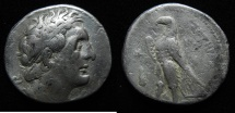 Ancient Coins - Ptolemaic kings. Ptolemy II Philadelphos (282-246 BC). AR tetradrachm (27mm, 13.98g). Tyre mint. Struck in regnal year 25 (261/0 BC).