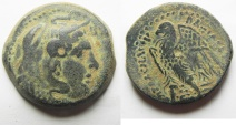 Ancient Coins - PTOLEMAIC KINGDOM. PTOLEMY II AE 23. ALEXANDER'S HEAD