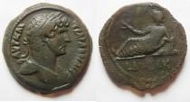 Ancient Coins - EGYPT. ALEXANDRIA. HADRIAN AE HEMI-DRACHM