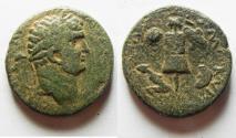 Ancient Coins - Judaea. Judaea Capta series. Caesarea Maritima under Titus (79-81 CE). AE 24