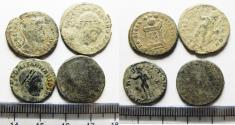 Ancient Coins - AS FOUND: LOT OF 4 ROMAN AE COINS