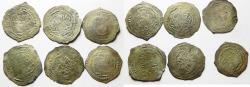 Ancient Coins - RASSIDS. Zaydí Imáms. Lot of 6 SILVER DERHIMS. 700 - 750 A.H