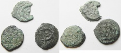 Ancient Coins - JUDAEA. LOT OF 3 AE PRUTOT