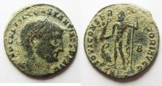 Ancient Coins - AS FOUND CONSTANTINE I AE FOLLIS