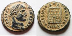 Ancient Coins - ORIGINAL DESERT PATINA: CONSTANTINE I AE FOLLIS