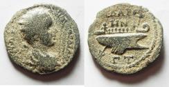 Ancient Coins - DECAPOLIS. GADARA, GORDIAN III AE 26. WITH GALLEY
