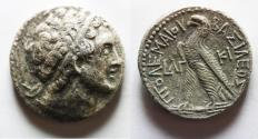 Ancient Coins - PTOLEMAIC KINGS of EGYPT. Ptolemy VIII Euergetes II (Physcon). 145-116 BC. AR Tetradrachm. Kition mint. Dated RY 33 (138/7 BC).