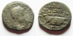 Ancient Coins - NEEDS CLEANING: DECAPOLIS. GADARA. GORDIAN III WITH GALLEY AE 26