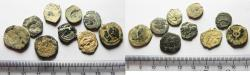 Ancient Coins - AS FOUND: LOT OF 9 NABATAEAN BRONZE COINS