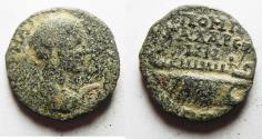 Ancient Coins - DECAPOLIS. GADARA, GORDIAN II AE 26. WITH GALLEY