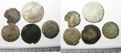 Ancient Coins - RASULIDS OF YEMEN: LOT OF 5 SILVER DIRHAMS . 1321 - 1363 A.D