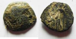 Ancient Coins - NABATAEAN KINGDOM. ARETAS II OR III AE 17