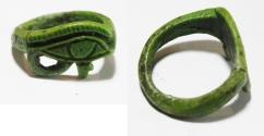 Ancient Coins - ANCIENT EGYPT, FAIENCE RING. EYE OF HORUS. 1300 B.C