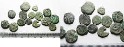 Ancient Coins - AS FOUND: Lot of 15 Ancient Judaean AE  Coins