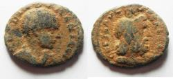 Ancient Coins - JUDAEA, Caesarea Maritima. Diadumenian. As Caesar, 217-218 CE. Æ 25