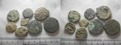 Ancient Coins - LOT OF 8 ANCIENT BRONZE BYZANTINE COINS