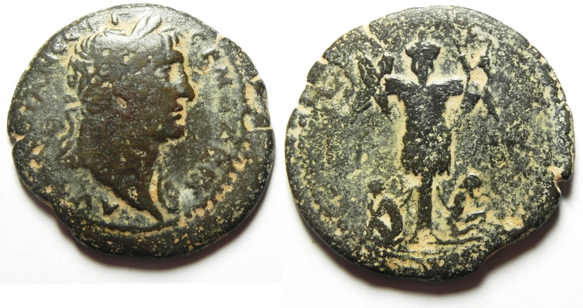 Ancient Coins - Egypt. Alexandria under Trajan (AD 98-117). AE drachm. Struck in regnal year 13 (AD 109/10).