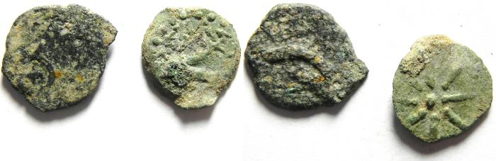 Ancient Coins - JUDAEA , NICE PAIR OF WIDOW'S MITE COINS