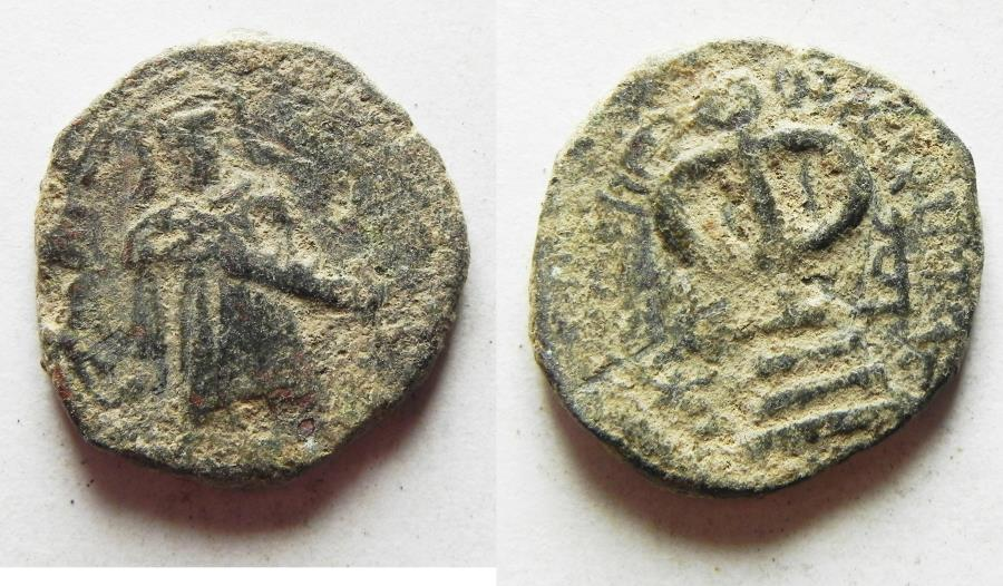 World Coins - ARAB-BYZANTINE AE FALS. STANDING KHALIFAH. AMMAN MINT