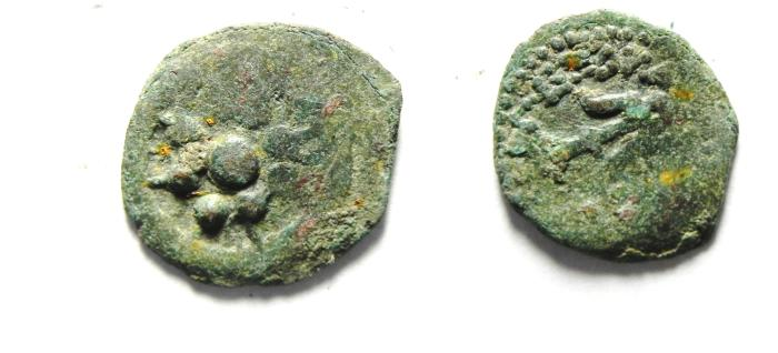 Ancient Coins - JUDAEA , NICE WIDOW'S MITE , AS FOUND
