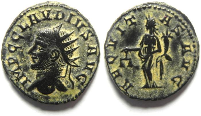Ancient Coins - BEAUTIFULL CLAUDIUS II ANTONINIANUS , NATURAL GLOSS