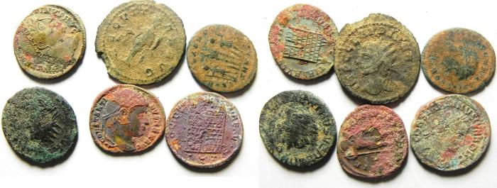 Ancient Coins - LOT OF 6 HIGH QUALITY  ROMAN AE 3 AND ANTONINIANUS