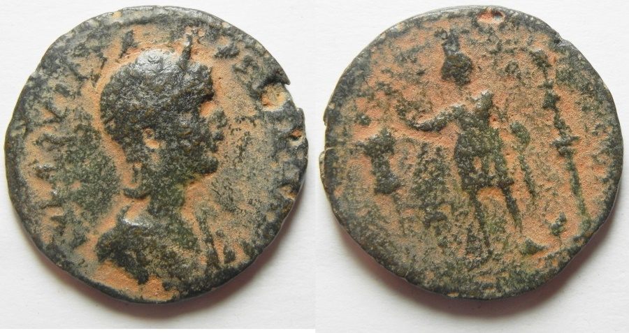 Ancient Coins - PHOENICIA, TYRE, Aquilia Severa . AE 27