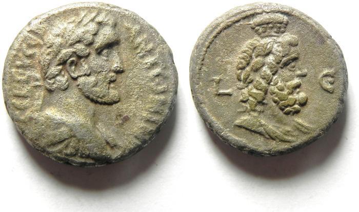 Ancient Coins -  NICE QUALITY ANTONINUS PIUS TETRADRACHM, ALEXANDRIA. EGYPT
