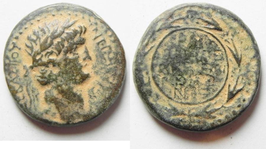 Ancient Coins - Judaea. Herodian. Agrippa II under Nero. AE 24. Founding of Neronias. Full Denomination