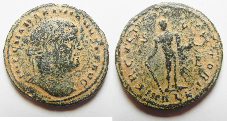 Ancient Coins - GALERIUS AE FOLLIS. ALEXANDRIA MINT