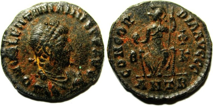 Ancient Coins - CHOICE VALENTINIAN AE 3