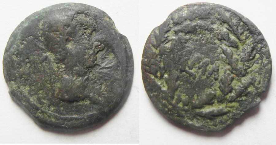 Ancient Coins - Egypt. Alexandria under Augustus (27 BC-AD 14). AE diobol (23mm , 7.44g). Struck in regnal year 41 (AD 10/11).