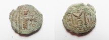 Ancient Coins - ISLAMIC. ARAB-BYZANTINE AE FALS. 650 - 700 A.D