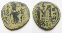 Ancient Coins - ARAB - BYZANTINE, DAMASCUS MINT, AE FALS