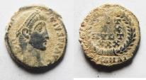 Ancient Coins - AS FOUND CONSTANTIUS II AE 4
