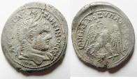 Ancient Coins - ROMAN PROVINCIAL. Phoenicia. Berytus under Caracalla (AD 198-217). Billon tetradrachm (28mm, 7.34). Struck c. AD 215-217